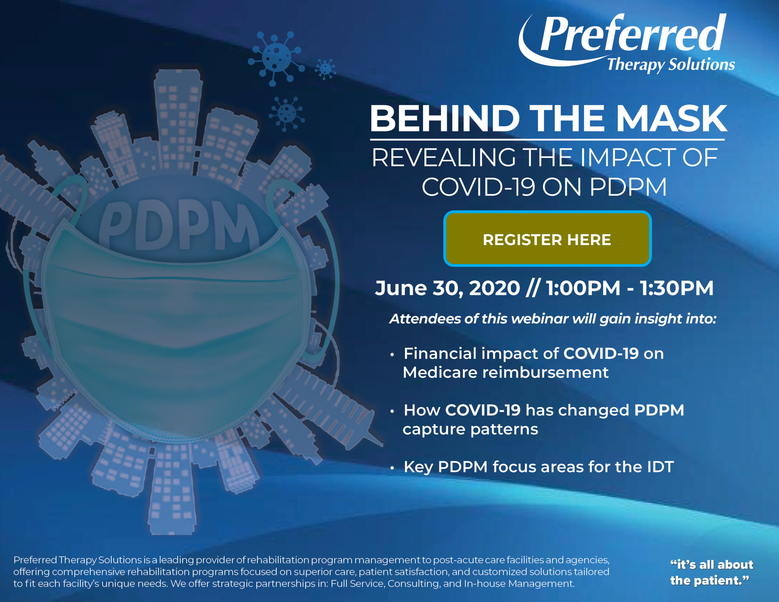 Preferred Therapy Solutions Webinar on Revealing the Impact of COVID-19 on PDPM